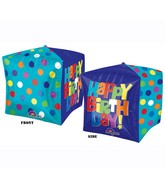 "15"" x 15"" Cubez Bright Birthday Balloons"