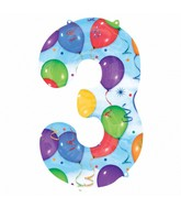 """35"""" SuperShape 3 Balloons & Streamers Balloon Packaged"""