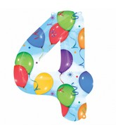 """35"""" SuperShape 4 Balloons & Streamers Balloon Packaged"""