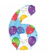 "35"" SuperShape 6 Balloons & Streamers Balloon Packaged"