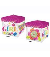 "15"" x 15"" Cubez Beautiful Baby Girl Block"