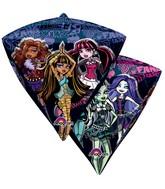 """17"""" Ultrashape Diamondz Monster High Balloon Packaged"""