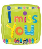"18"" Young Art I Miss You Balloon"