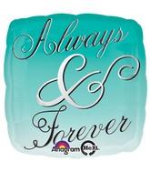 "18"" Always & Forever Ombre Mylar Balloon"