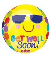 "16"" Bright Sunny Get Well Orbz Balloons"