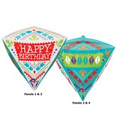 "17"" x 15"" Diamondz 3D Scandi Happy Birthday"