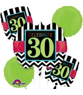 Bouquet Birthday Celebration 30 Balloon Packaged