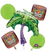 Bouquet Kiwi Tiki Time Balloon Packaged