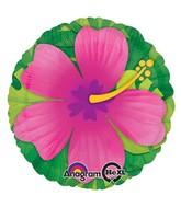 """28"""" Jumbo Pink Tropical Hibiscus Balloon"""