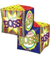 "15"" Cubez Great Boss Stripes Balloon Packaged"