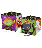 "15"" Cubez Halloween Characters Balloon Packaged"