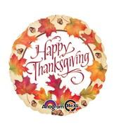 "18"" Thanksgiving Leaves Balloon"