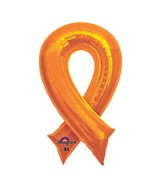 "36"" SuperShape Orange Cause Ribbon Balloon"