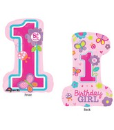 "28"" SuperShape Sweet Birthday Girl Balloon Packaged"
