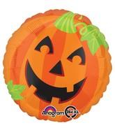 """28"""" Jumbo Pumpkin Smiles Balloon"""