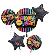 Bouquet Bright New Year's Eve Balloon Packaged