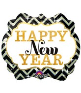 """25"""" Holographic SuperShape New Years Marquee Balloon"""