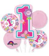 Bouquet: Primera Cumpleanos Mariposa Balloon Packaged