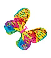 """31"""" SuperShape Fancy Butterfly Yellow Balloon Packaged"""