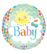 "16"" Orbz Friendly Baby Sun Balloon Packaged"