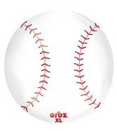 "16"" Orbz Baseball Balloon Packaged"