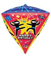 "17"" Ultrashape Diamondz Ninja Birthday Balloon Packaged"