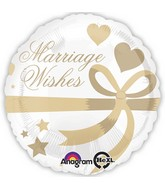 "18"" Marriage Wishes Balloon"