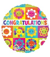 """21"""" ColorBlast Congrats Flower Squares Packaged"""