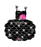 "28"" SuperShape Little Black Dress Balloon Packaged"