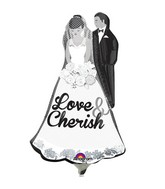 Airfill Only Mini Shape Love and Cherish Couple Balloon
