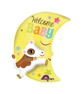 """25"""" Multi-Balloon Cow Over The Moon Balloon Packaged"""