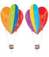 "30"" Multi-Balloon Gift Box Hot Air Heart Balloon"