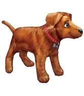 "36"" UltraShape Golden Dog Balloon Packaged"