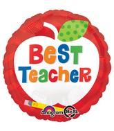 """18"""" Best Teacher Apple Balloon"""