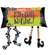 """33"""" SuperShape Happy Fright Night Legs Balloon"""
