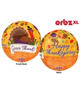 """16"""" Orbz Give Thanks Balloon Packaged"""