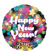 "28"" Jumbo Sing-A-Tune New Years Party Balloon Packaged"