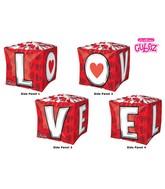 "15"" Cubez L-O-V-E Balloon Packaged"