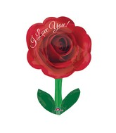 "28"" Junior Shape I Love You Rose with Stem"