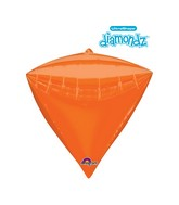 "17"" Ultrashape Diamondz Diamondz Orange Balloon"