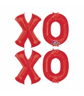 Letter Bunch X-O-X-O Balloon Packaged