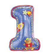 Jumbo Hugs & Stiches 1st Birthday Boy Mylar Balloon
