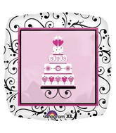 "18"" Sweet Wedding Mylar Balloon"
