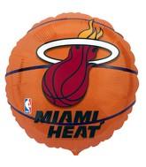 "18"" NBA Miami Heat Basketball Balloon"