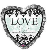 "28"" Large Always & Forever Heart Balloon"