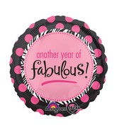 """18"""" Another Year of Fabulous Balloon"""
