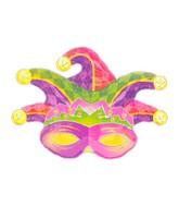 "31"" SuperShape Mardi Gras Mask Balloon"