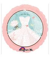 "18"" Bridal Dress Mylar Balloon"