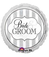 "18"" The Bride & Groom  Mylar Balloon"