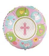 "18"" Sweet Christening Girl Mylar Balloon"